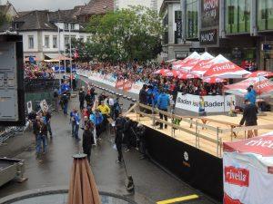 Weltcup Final Baden 2013: Sicht vom Ziel auf den Schlossbergplatz