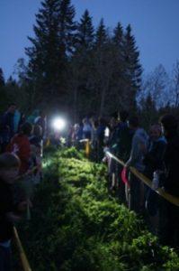 Typische Pfingststaffel-Atmosphäre beim Überlauf auf den Nachtstrecken