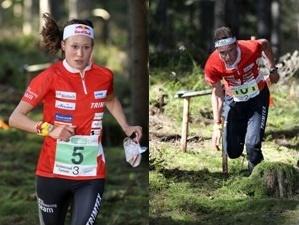 Judith Wyder und Daniel Hubmann am Zurzacher-OL